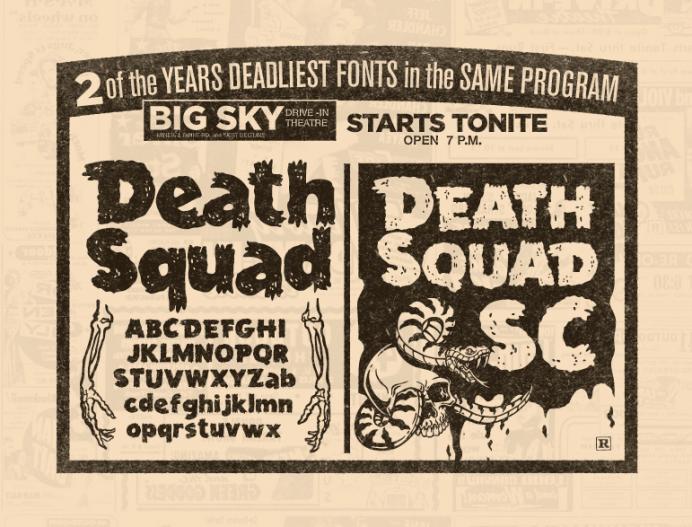 Death Squad Fonts