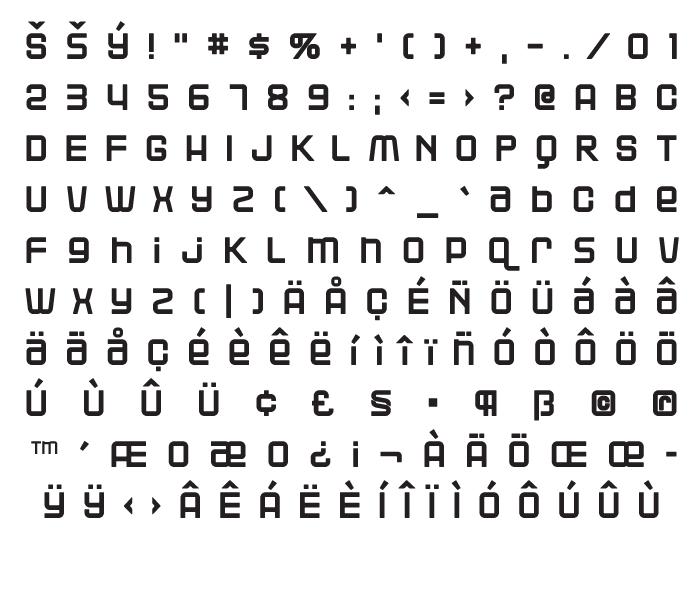 Fonts blackjack